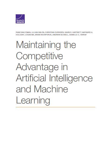 兰德报告:保持人工智能和机器学习的竞争优势