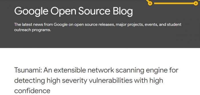 Google开源漏洞扫描系统Tsunami