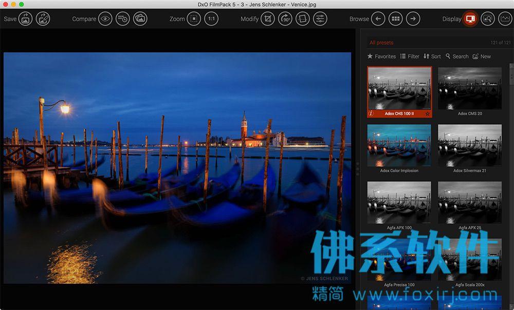 优秀的摄影照片滤镜软件DxO FilmPack 英文版