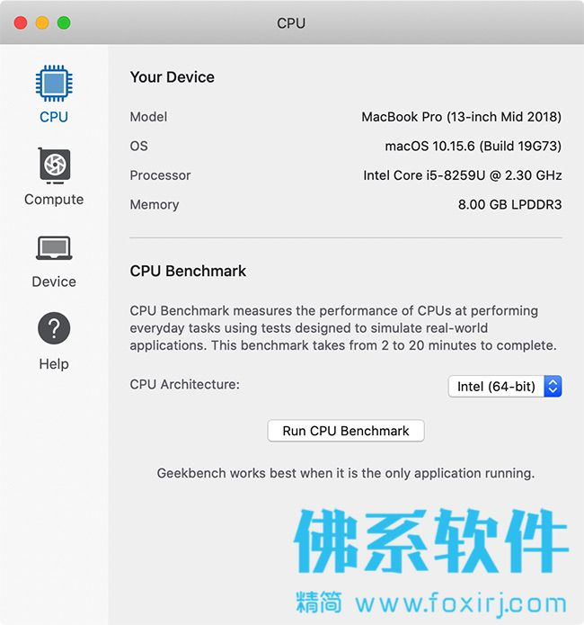 硬件性能基准测试软件Geekbench Pro for Mac 英文版