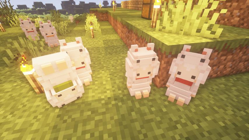 Cute Mob models resource pack(生物萌化资源包)