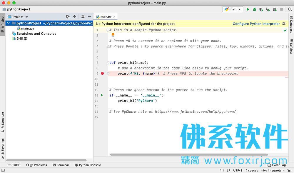 专业的Python集成开发环境JetBrains PyCharm Pro for Mac 中文版