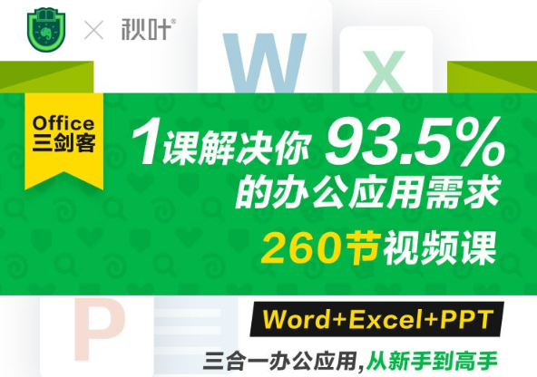 Office三剑客Word+Excel+PPT  第1张