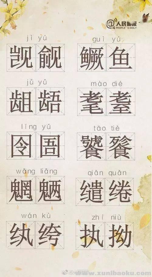 人民日报整理 70个超难读的汉字词组的读法和意思Word文档下载