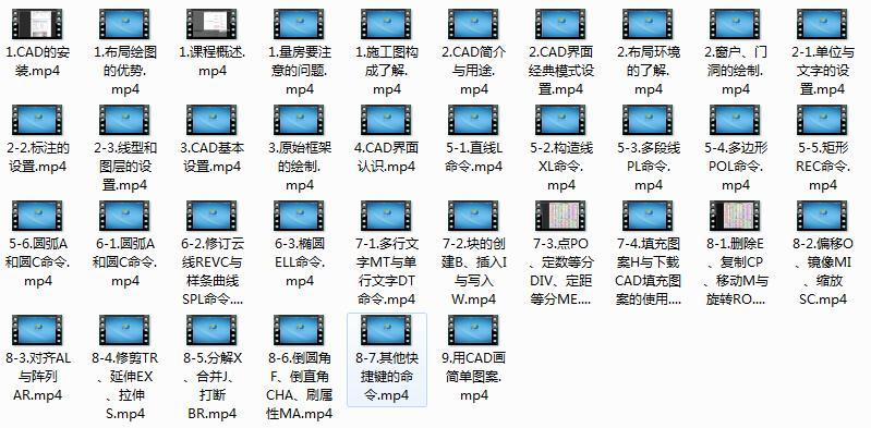 《CAD2016施工图基础教学》全套教程视频(36集)
