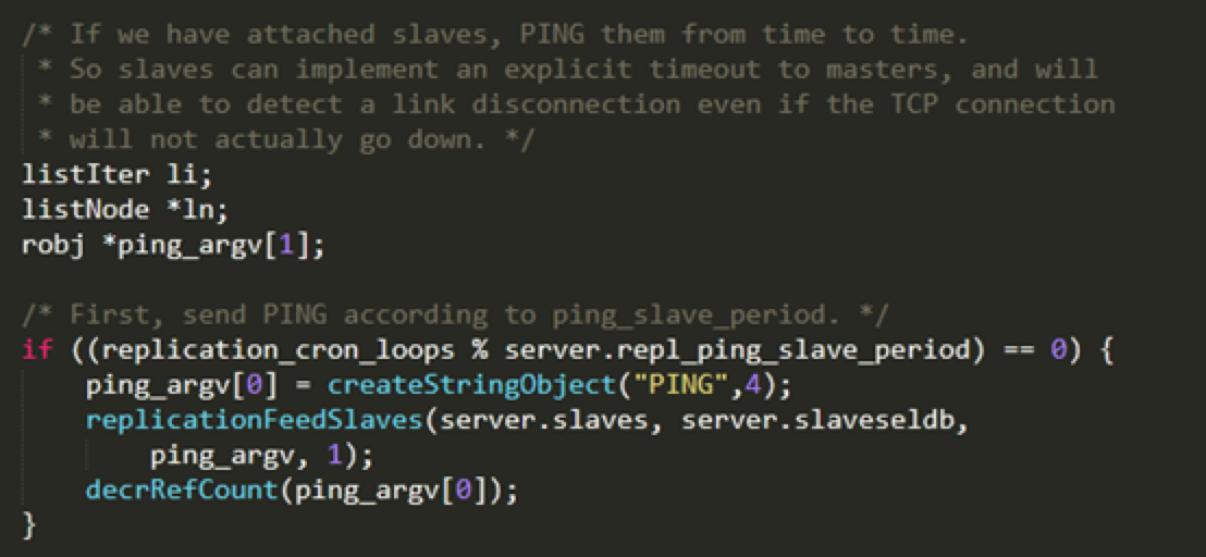 ping-slave代码实现