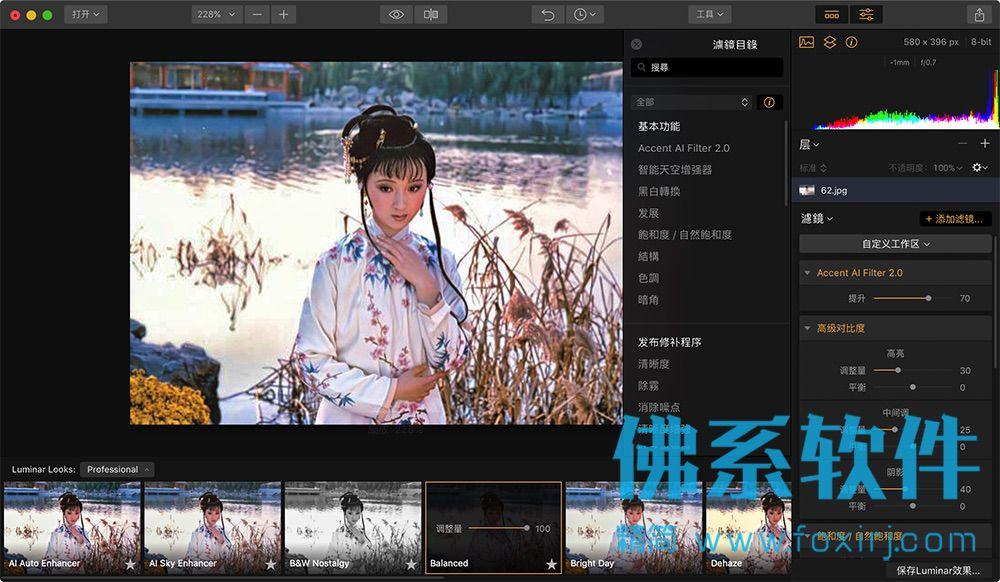 全功能照片Ai滤镜工具Luminar Flex for Mac 中文版