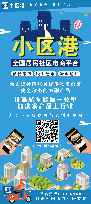 小区港宣传海报