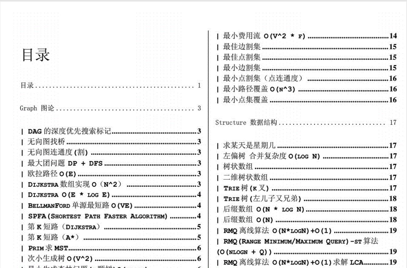 ACM/ICPC 常用算法代码