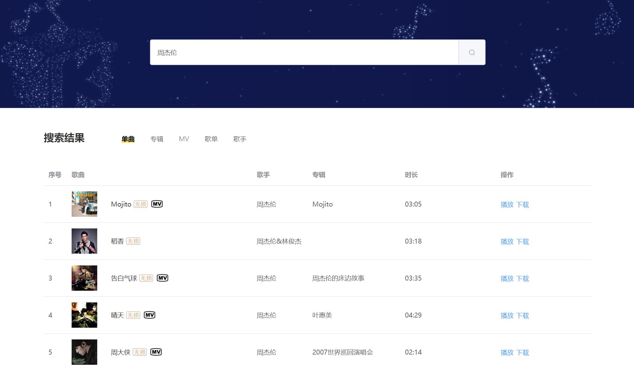 音乐下载器 :收罗QQ 网易云 虾米 酷狗音乐!