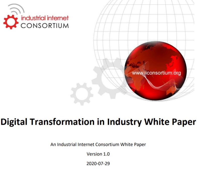 工业互联网联盟发布有关行业数字化转型的综合白皮书