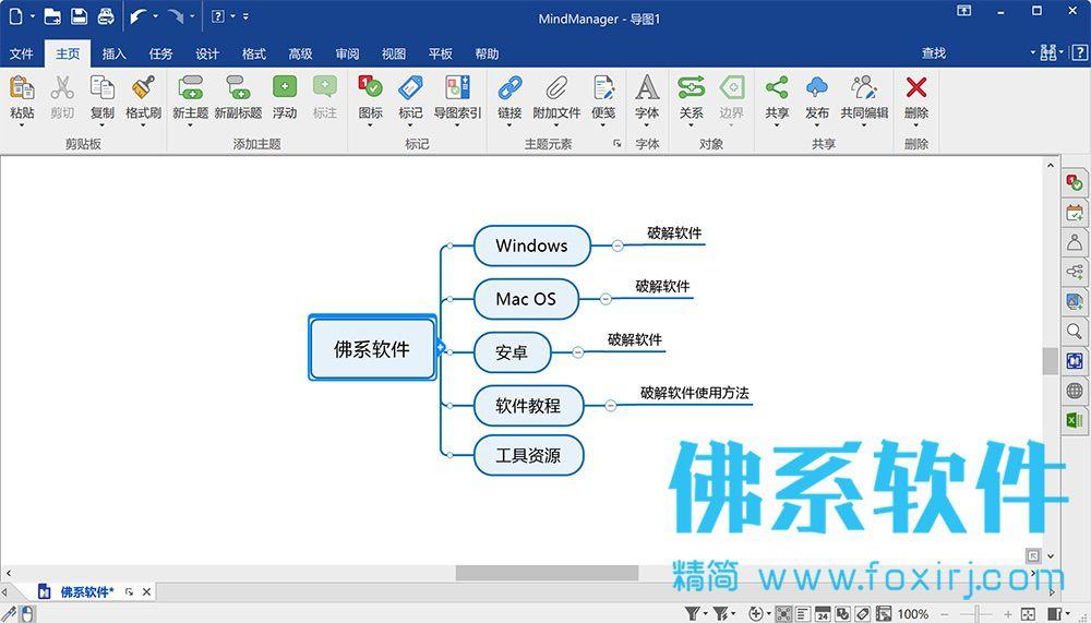 思维导图软件Mindjet MindManager 2021 官方中文版