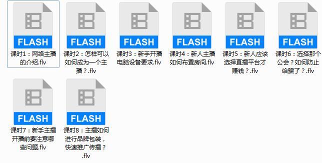 网络主播新手培训入门视频教程(8集)
