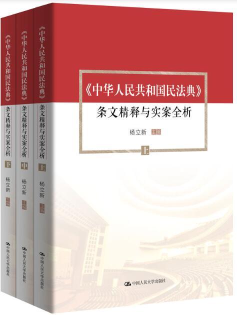 《中华人民共和国民法典》条文精释与实案全析(套装共3册) 杨立新epub+mobi+azw3