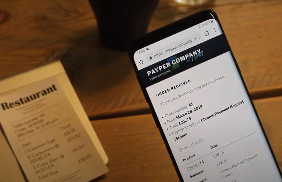 智能石墨烯收据条:无接触付款账单直接显示在手机屏幕