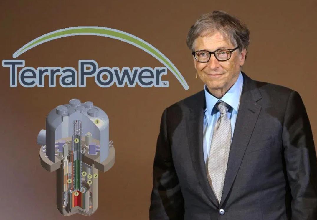 盖茨推出迷你核反应堆连接熔融盐储能系统以实现低碳或零碳发电