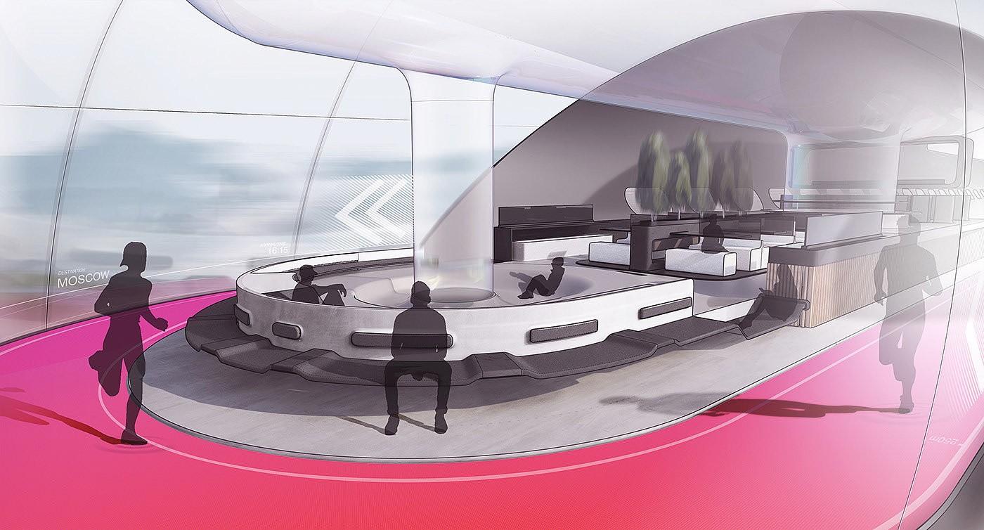 重新定义长途旅行:高效绿色舒适的AeroSlider火车概念设计