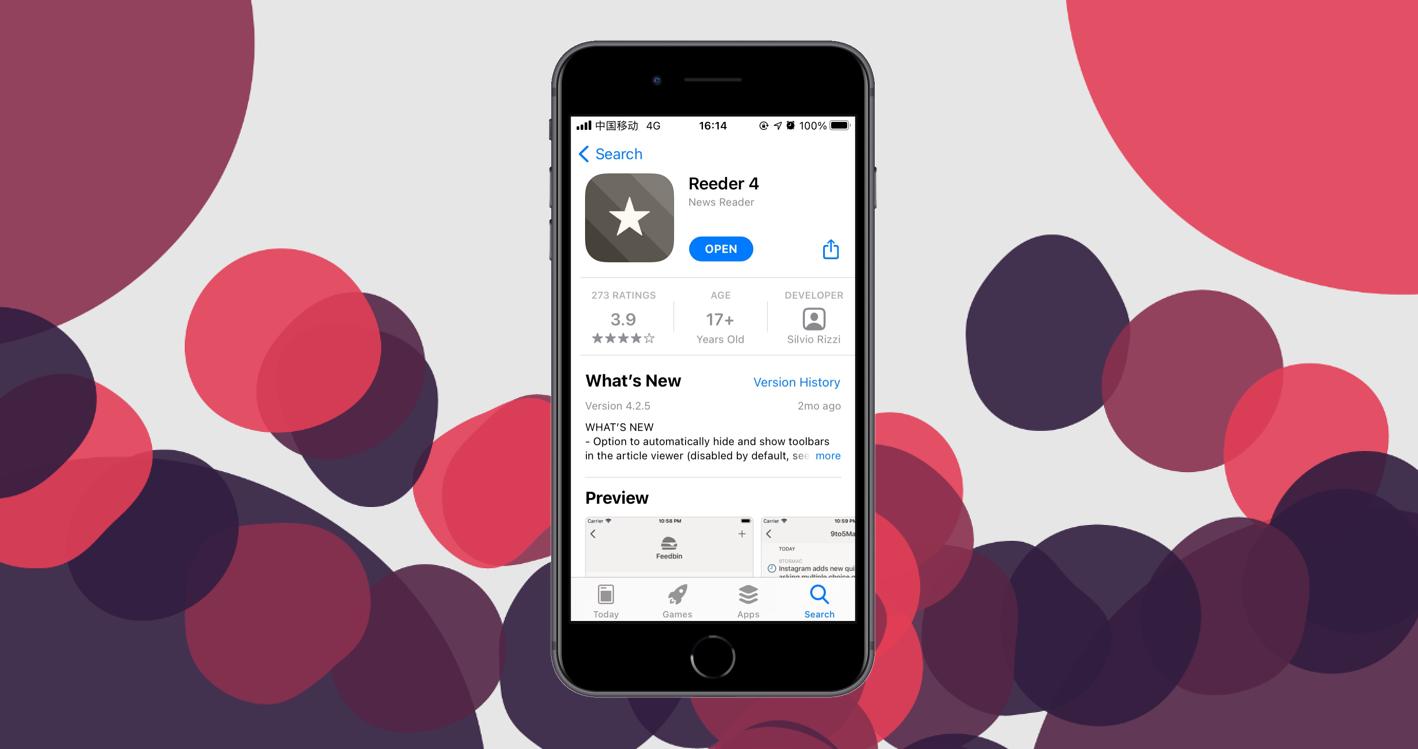 App Store里的Reeder4