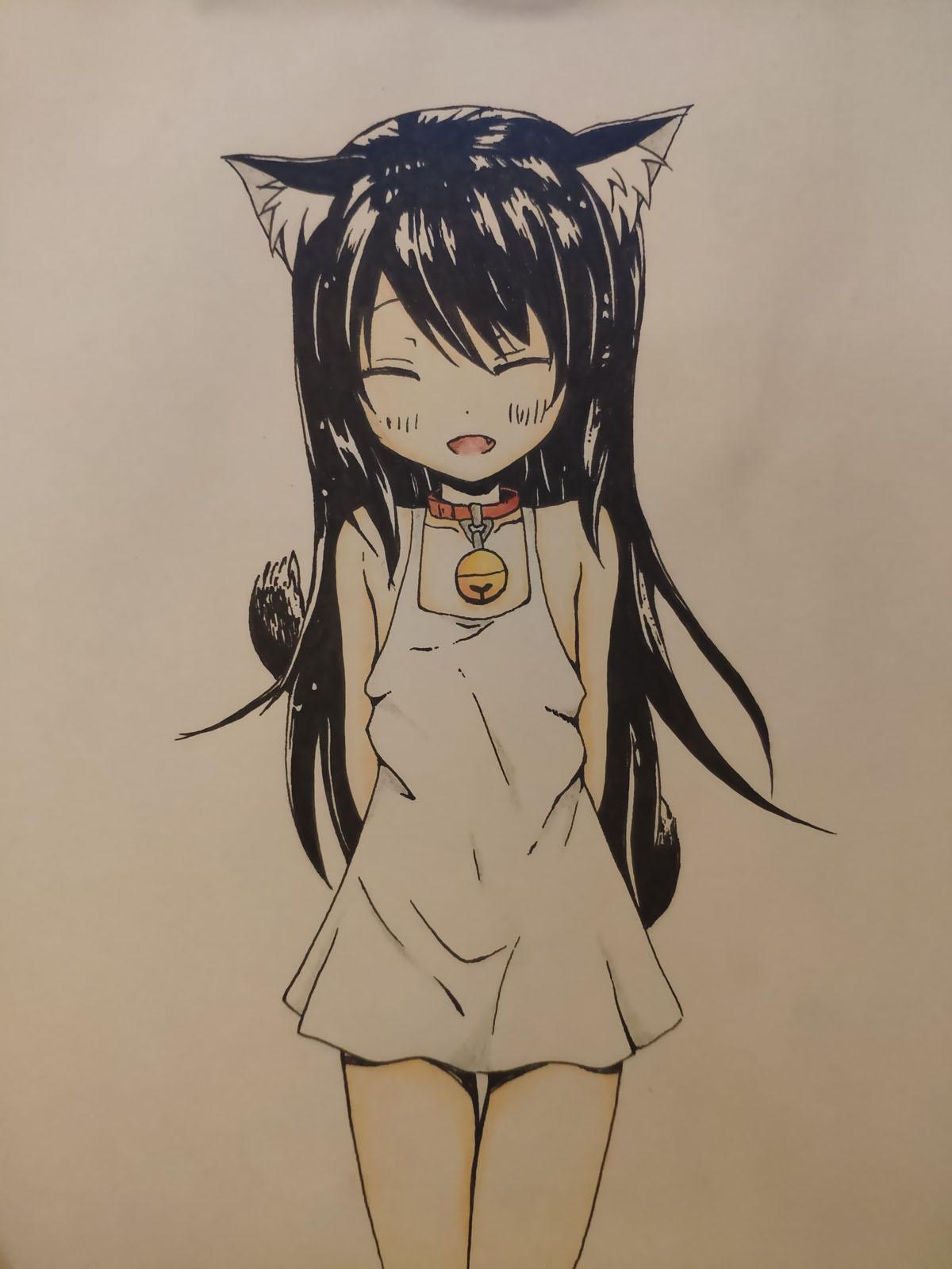[临摹]黑猫萝莉,绅士们快来认领