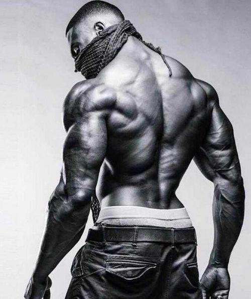 肌肉男练出有型背部V线肌肉-追梦健身网