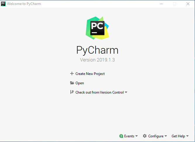 pycharm启动页