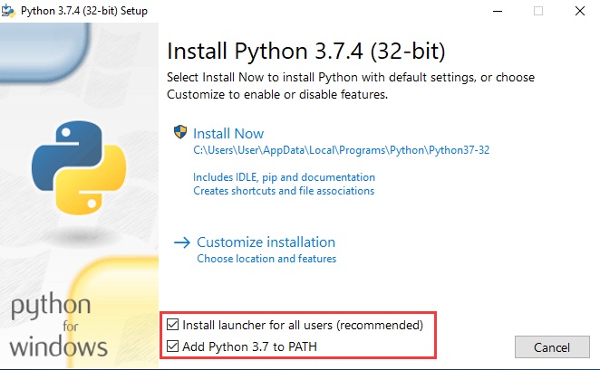 Python安装页面