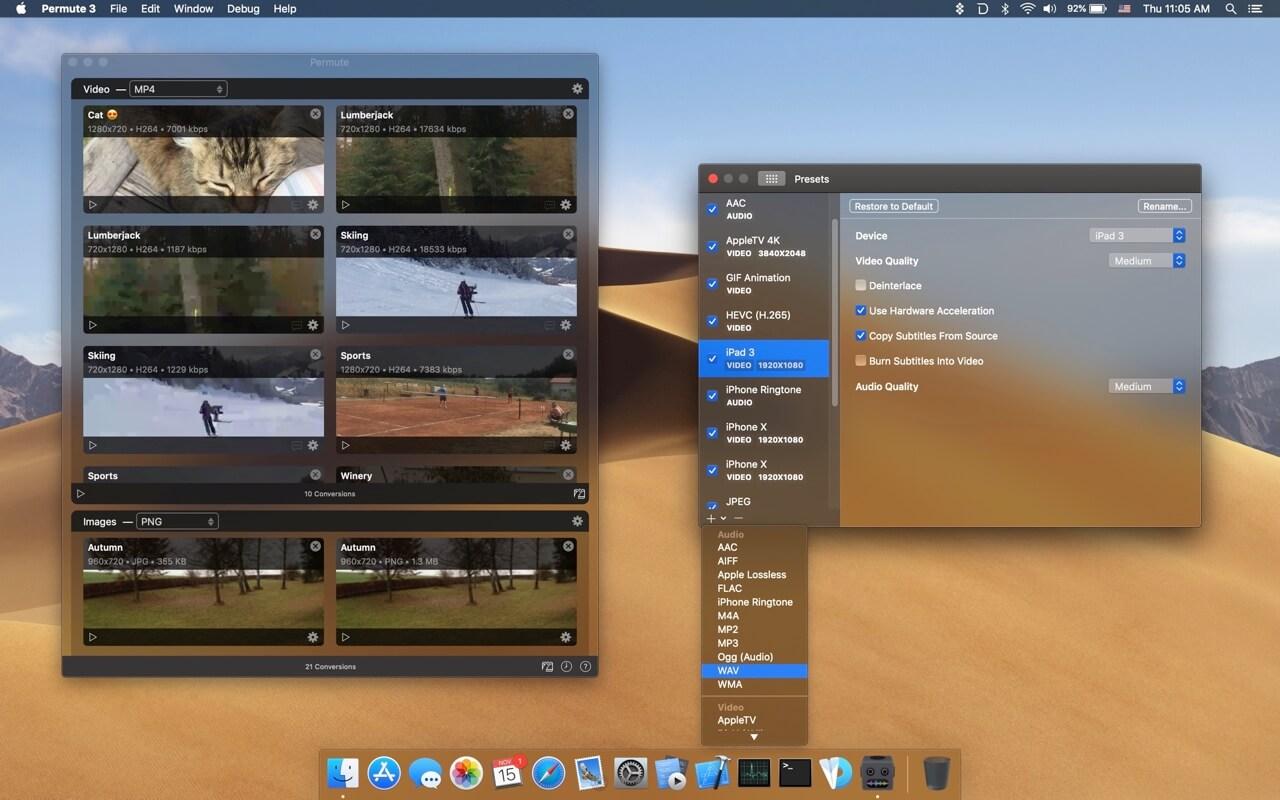 Permute 3.5.8 小巧便捷的多媒体文件格式转换器-马克喵