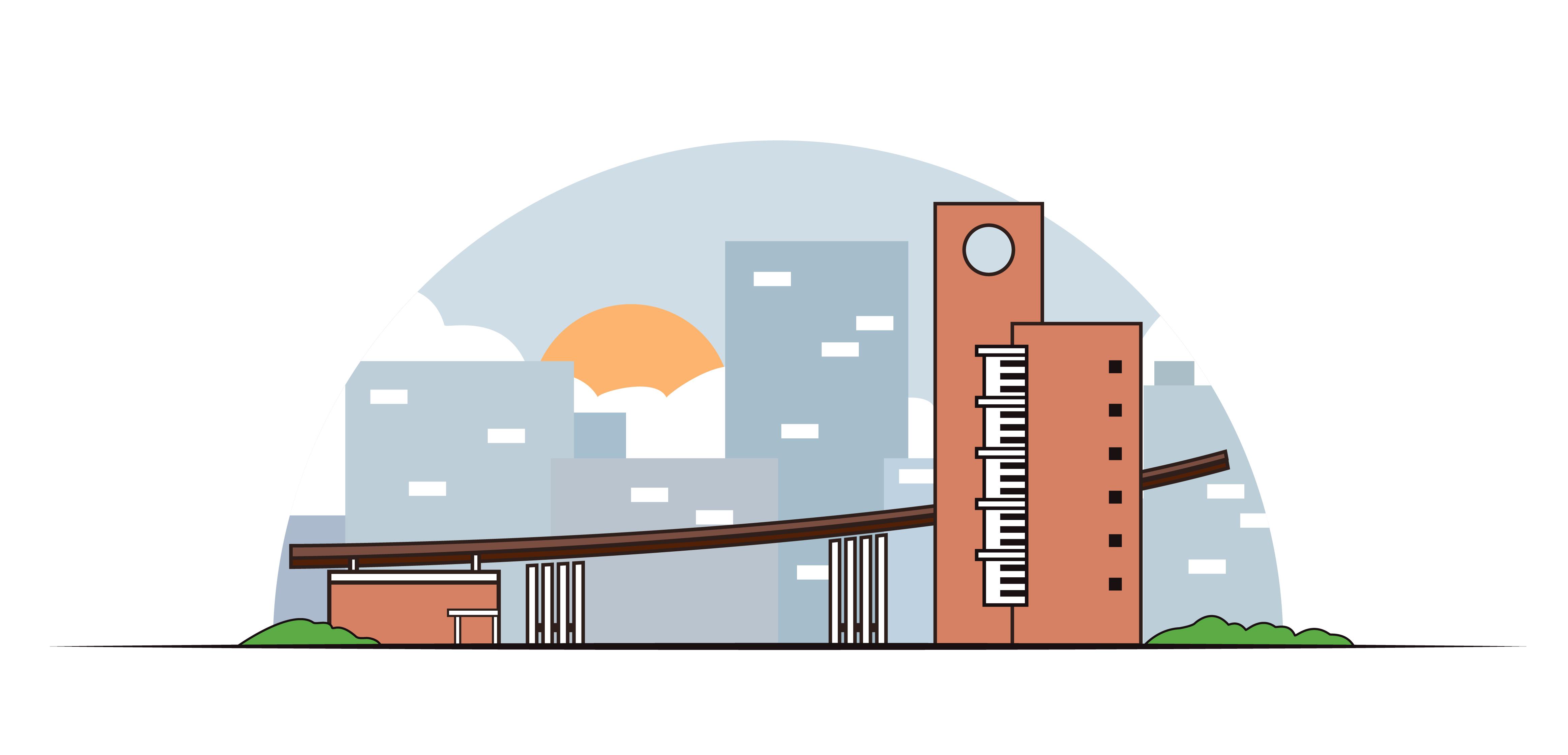 建筑插画 01