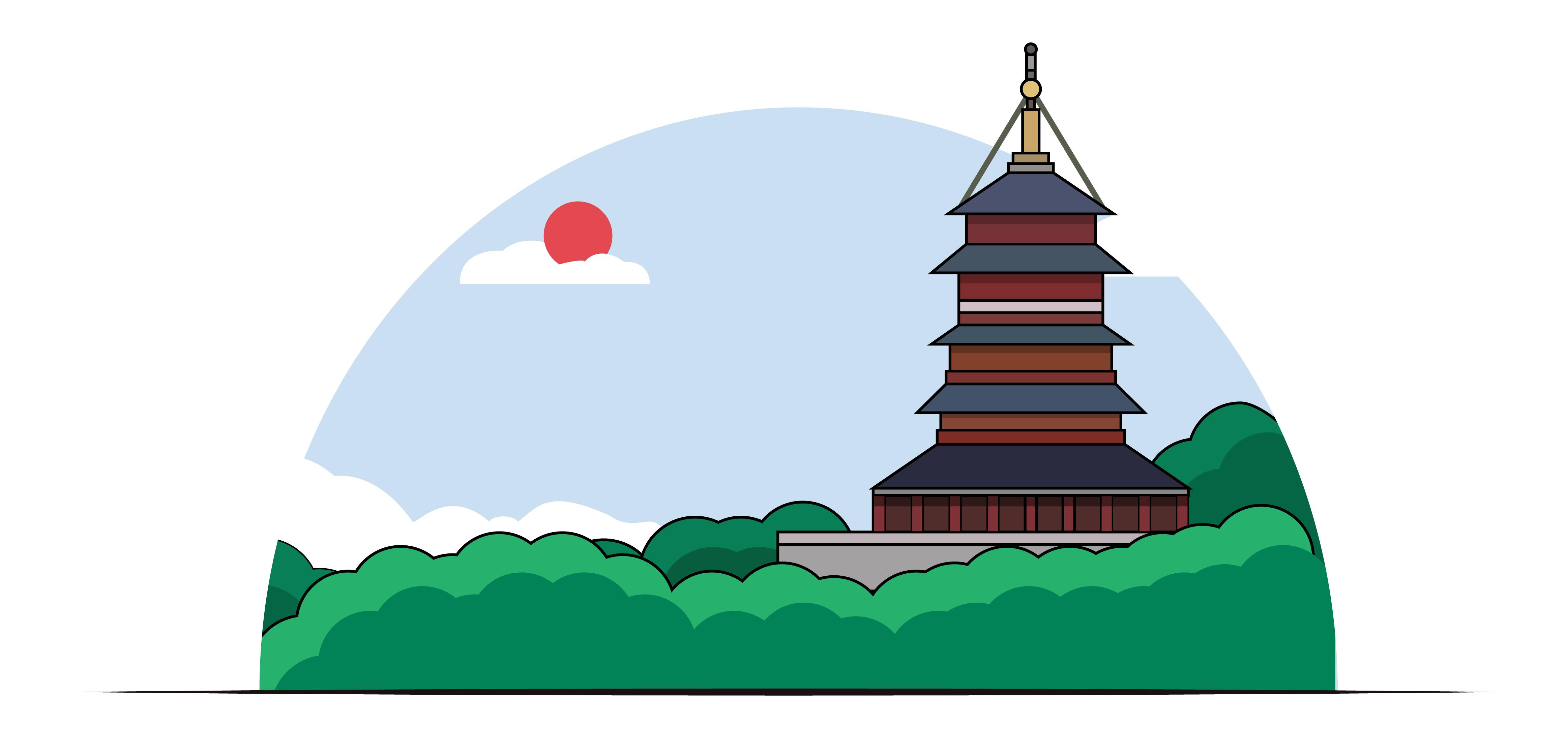 建筑插画 02