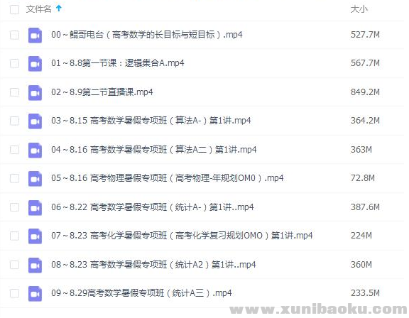 2021朱昊鲲高考数学暑假班完结视频课程百度网盘下载