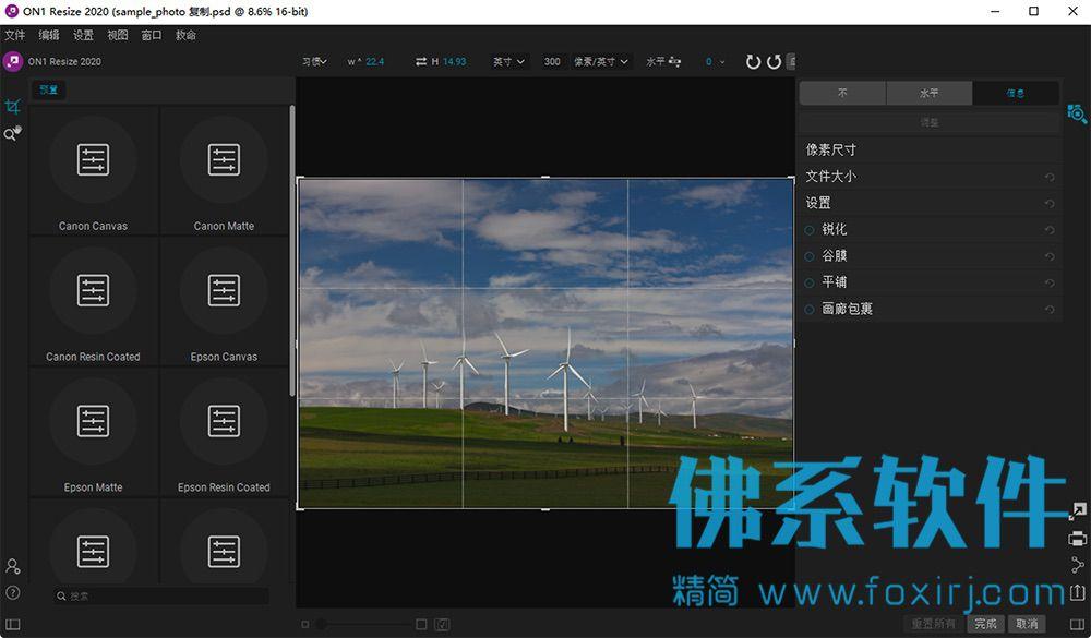 图片无损缩放软件ON1 Resize 2020 中文版