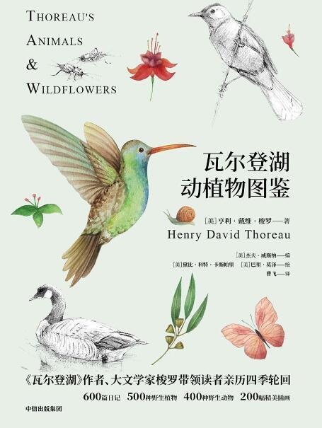 《瓦尔登湖动植物图鉴:动物篇+植物篇(2册)》亨利·戴维·梭罗epub+mobi+azw3