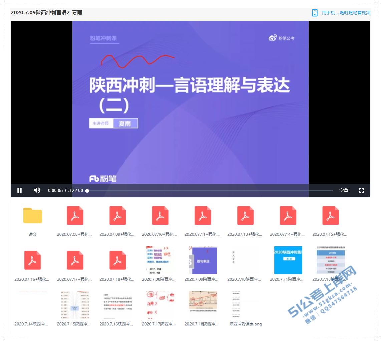 2020陕西省考线上冲刺班-51公考上岸网
