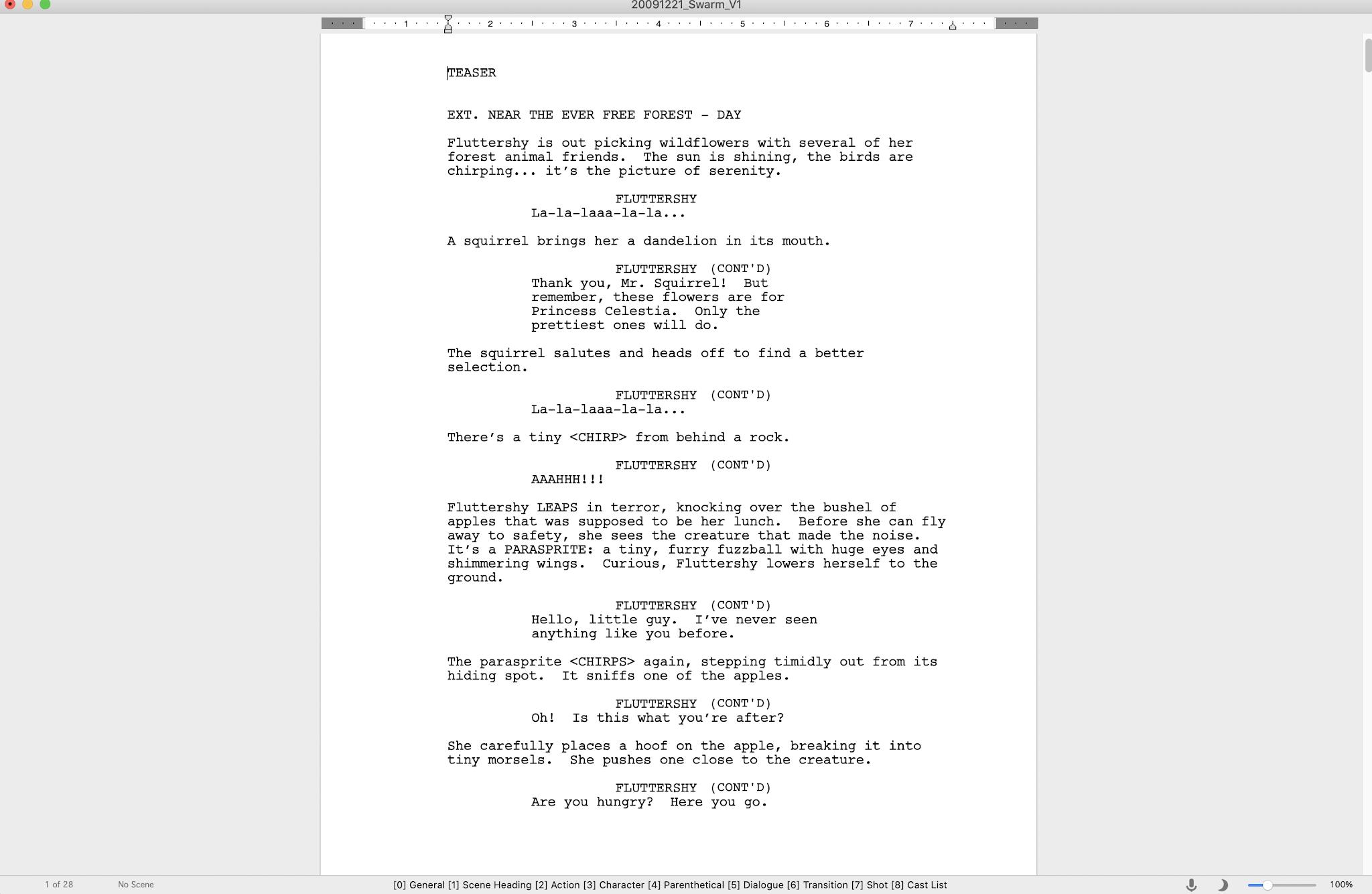 Larson's First Script