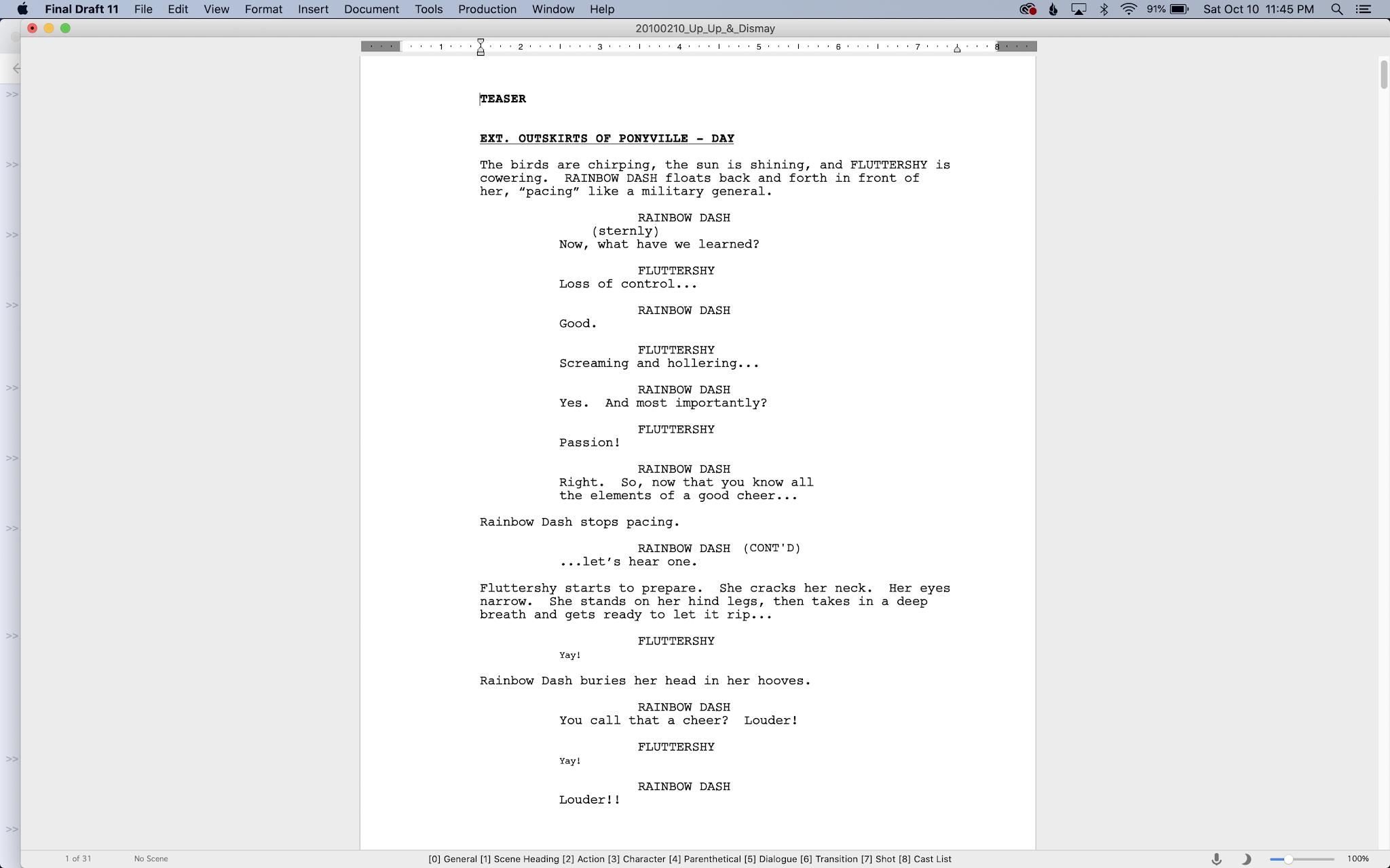 First draft of Sonic Rainboom