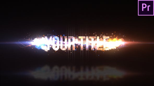 PR预设-粒子Logo动画 Particle Swish Title