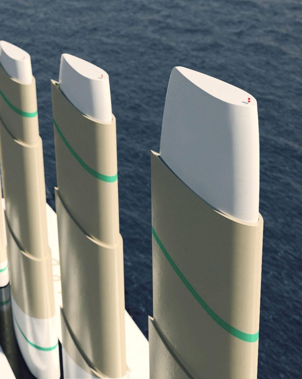 世界上最大风力船二氧化碳排放量减少90%
